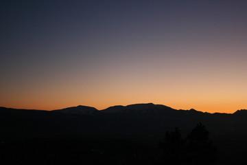 couche de soleil dans les pyrenees
