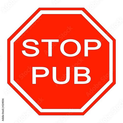 Panneau stop pub photo libre de droits sur la banque d 39 images - Prix d un panneau stop ...