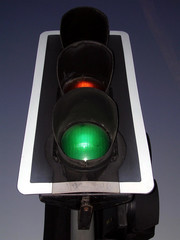 traffic light is green