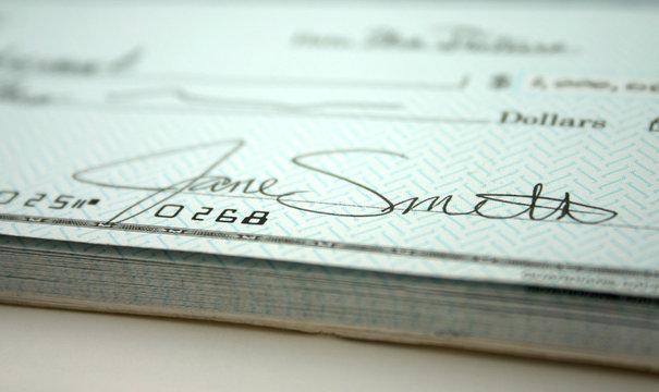 signature on check