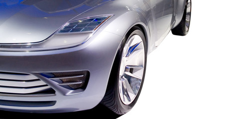futuristic car's front end 2