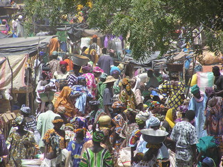 Printed kitchen splashbacks Africa djenne market