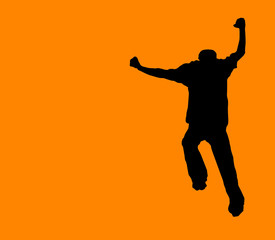 orange run away! - clipping path incl