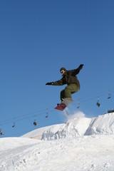 snowboarder  saut