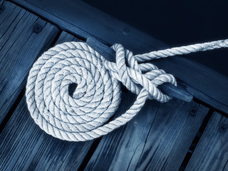Door stickers Sailing boat rope