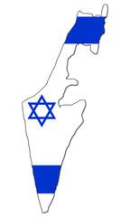 carte de l' état d' israel