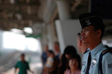 sky train station, bangkok, thailand