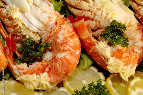 Plat de langoustes photo libre de droits sur la banque d for Cuisine queue de langouste