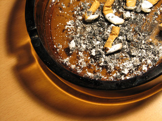ash and ashtray