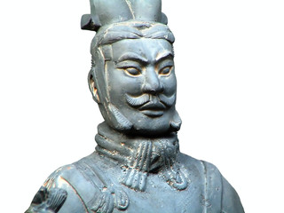 terracotta soldier of ancient chinese emporer qin