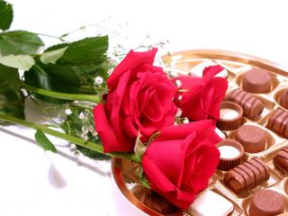 rose chocolate valentine