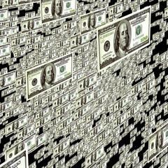 money rain background