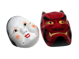 two japanese masks