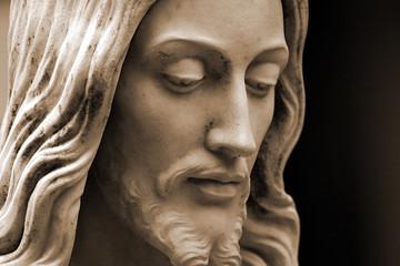 sepia-toned jesus