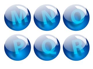 letters spheres