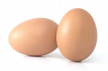 two eggs side by side