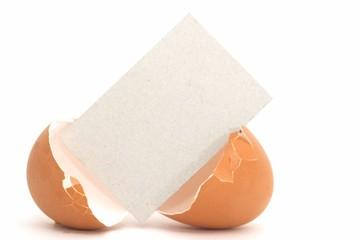 cracked egg wtih blank card #2