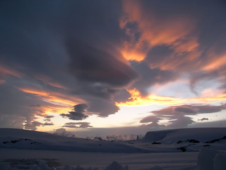 polar sunset