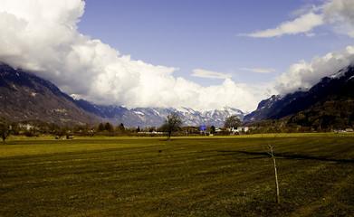 mountain view, alps