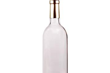 empty bottle of wine