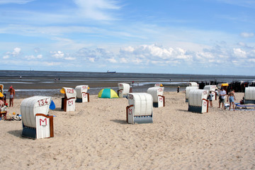 beach huts in cuxhaven