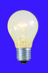 glühbirne nach edison,freigestellt
