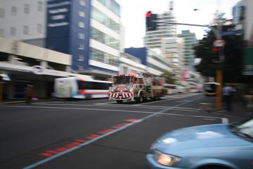 fire truck speeding