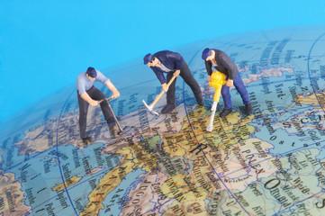 working around the world