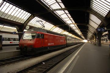 Aluminium Prints Train Station switzerland, zurich: railway station