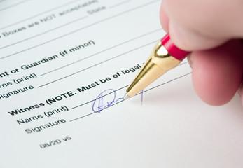 putting a signature