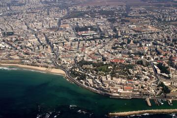 seashore of tel aviv and old jaffa