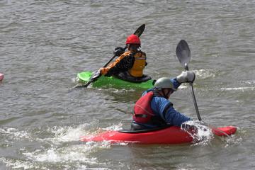 kayaking by 2