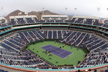 Foto op Textielframe Stadion tennis court at pacific life open