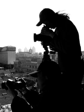"photographer""s silhouette"