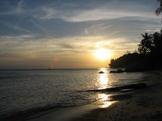 evening by beach