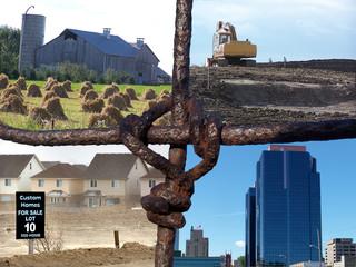 farm fence collage