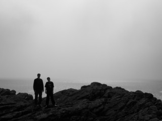 silhouette walkers