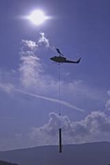 hélicoptère et soleil