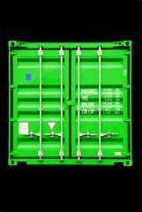 container grün-schwarz