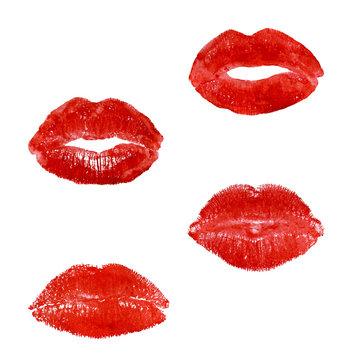 print of lipstick