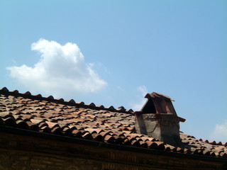 rooftiles and chimney