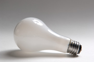 light bulb laying on side