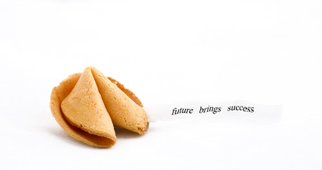 fortune cookie with text