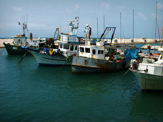 fishing trawlers, jaffa , israel