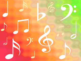 gradient musical notes