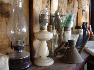 bottles and lamps