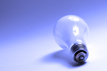 light bulb in blue
