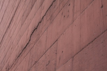 red wall in perspective
