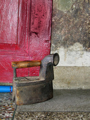 old iron by the door