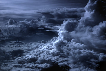 Aluminium Prints Heaven blue clouds
